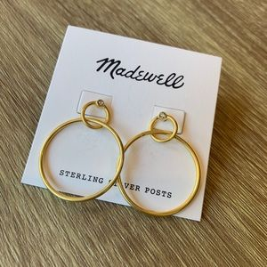 Madewell Gold Double Circle Earrings